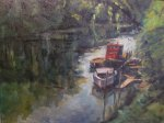 "Robert Pinhasik, ""North Branch Chicago River,"" oil."
