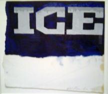 Ed Ruscha, Study for Ice