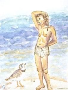 _Michelle-Kogan-Plover-Vulnerability, detail, watercolor and watercolor pencil.