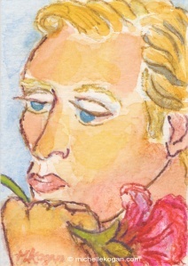 ACEO-mkogan-©-Man-with-Flower