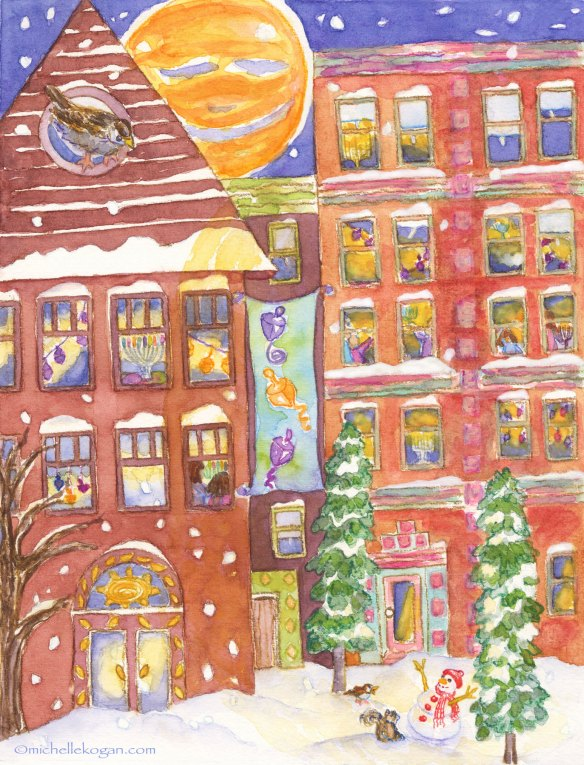 Hanukkah-in-the-City-card-©Michelle Kogan