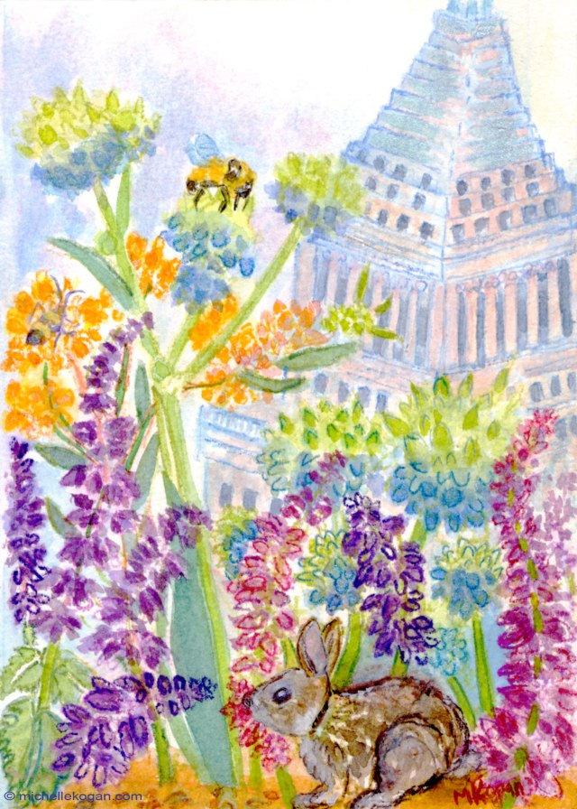 Michelle-Kogan-Rabbits-View-from-Lurie-Garden-Giclee-copy