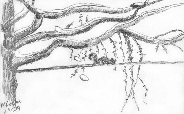 ©-mkogan-Flocked-branches-sketch-2-09-2014