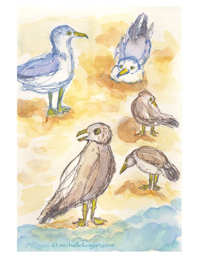 © Michelle Kogan Summer-Seagull-Sketches-at-the-Beach-Final copy