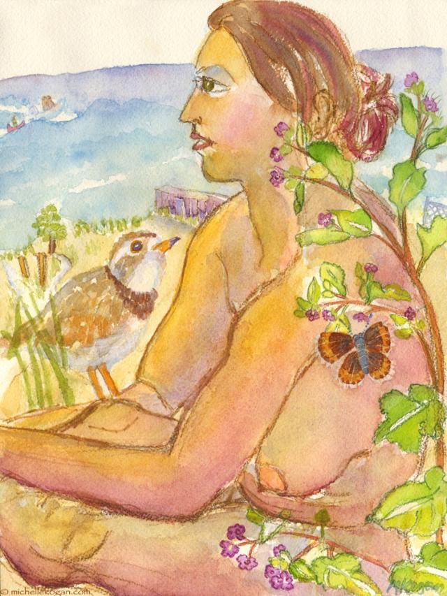 © M Kogan Earth-Goddess-Plover-&-Lycaeides-Melissa 5-2014