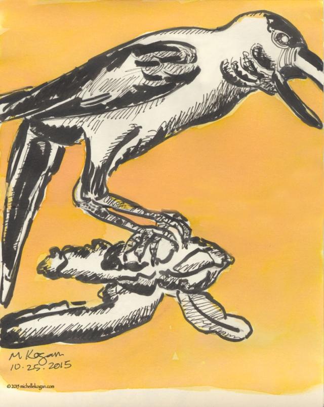 Crow-Inktober--A-10-24-2015