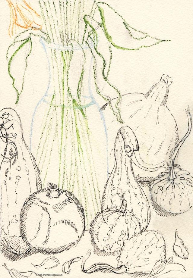 1-fall-harvest-and-flowers-inktober-wip-m-kogan-10-11-2016