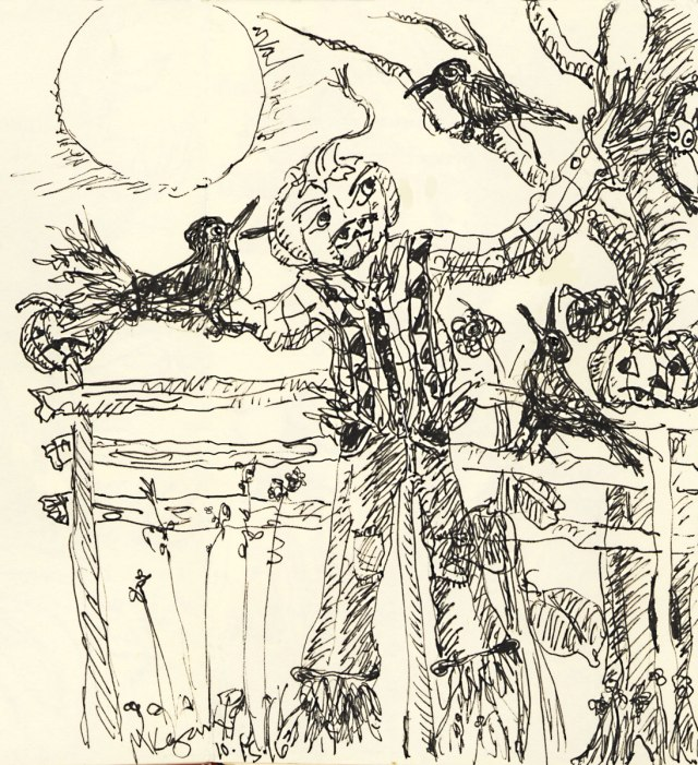 1-inktober-scarecrow-tree-and-crows-10-15-2016
