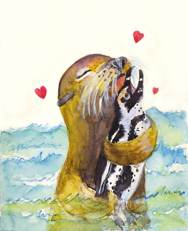 1-seal-and-african-penguin-valentine-m-kogan-2-11-2017