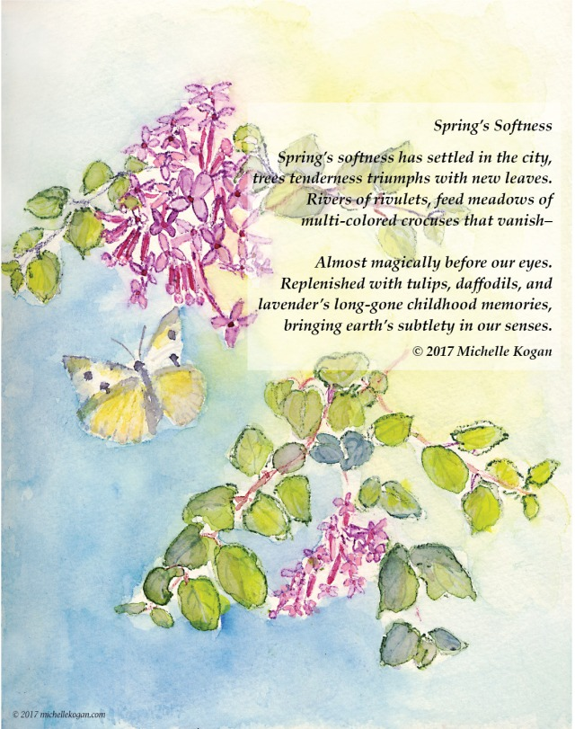 Springs Softness Poem and waterolor 5-17-2017
