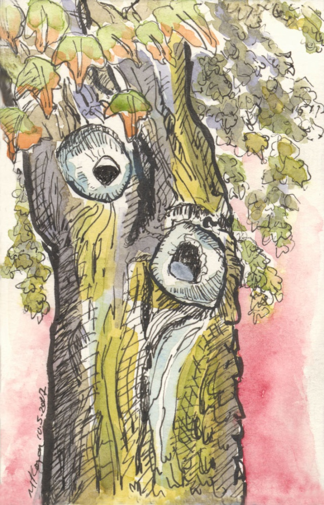 1-Inktober-day-5–6-Trees-Talking-10-5-2017