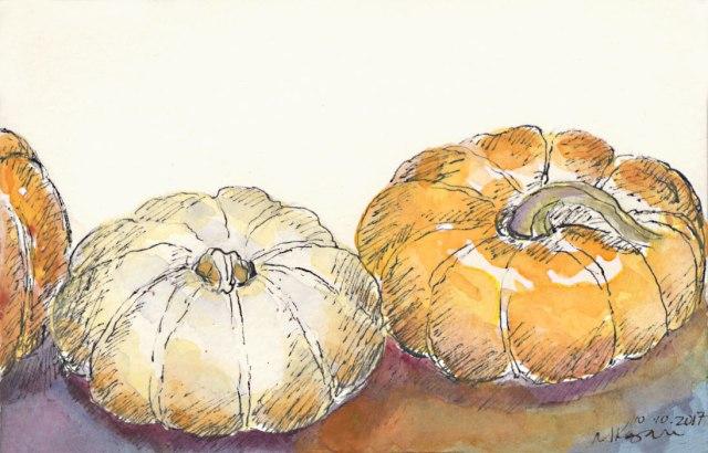 1-Inktober-day10-3-Pumpkins10-10-2017