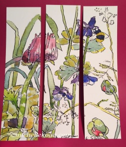 1--Menagerie-of-flowers-&-Bee-bookmark-front-5-2018 copy