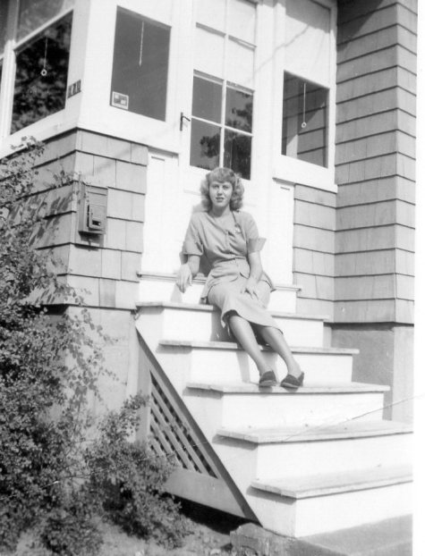 Mom on stairs