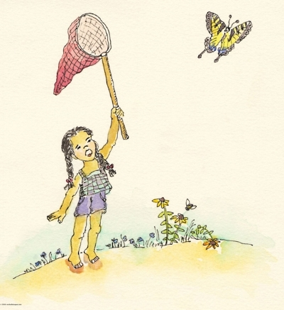 Girl-Pursuing-Swallowtail-Memory-Drawing-7--08-2016-copy+copy