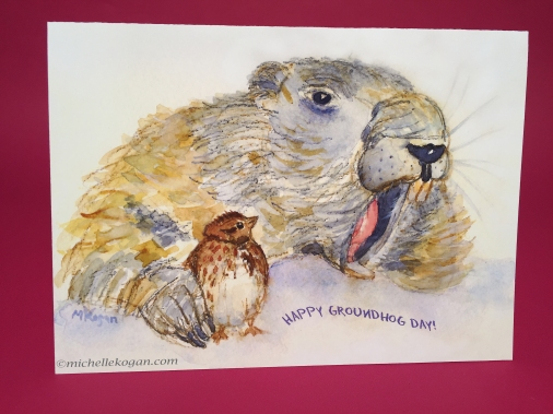 1-groundhog and bird card front 1-17-2019.jpg