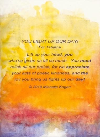 Sun image-poem for Tabatha 8-29-2019