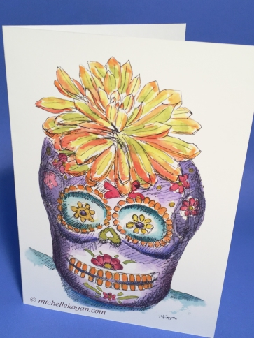 1- Sugar SKull halloween card front 10-2019