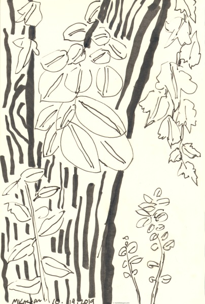 Overgrowth-leaves-inktober day-14-10-17-2019