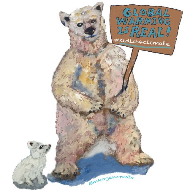 1-Polar Bear Protesting Kidlit4climate-11-14-2019