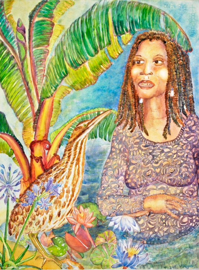 Earthgoddess Bittern Banan Tree- m kogan 4-22-2020