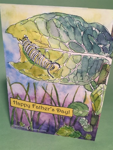 1- Caterpillar Father's day card 6-1-2019