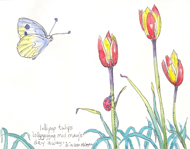 2-Lollipop tulips- art haiku-M Kogan-5-14-2020