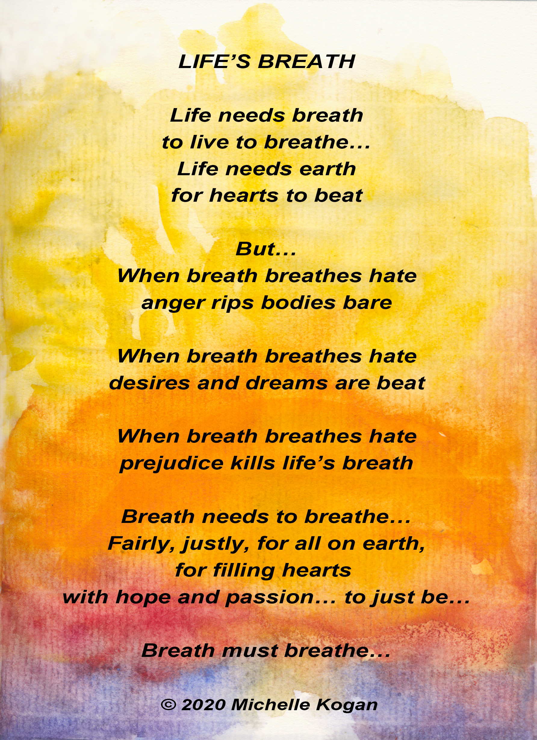 Life's Breath poem on sun background 6-4-29-2020